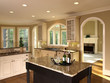 Luxury Model Home Kitchen Island