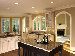 Luxury Model Home Kitchen Island