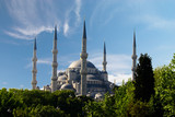 blue mosque in Istanbul, Turkey poster