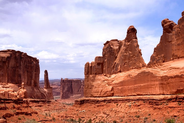 Red rocks panorama in Arches National park, Utah
