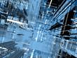 abstract dark blue urbanism  background