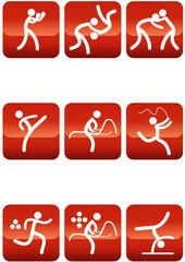 Pictogrammes des jeux olympiques d'été carré rouge(partie 2)