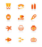 Scuba diving icons | JUICY series