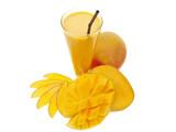 Fototapety gesundes sommer getränk mango lassi mit frischen mangos