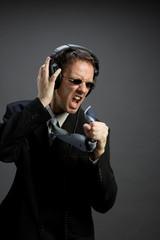 Singing businessman