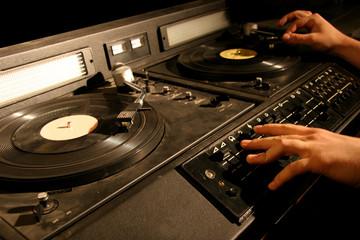 retro dj's mixer