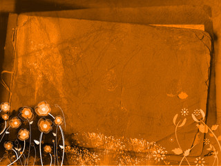 Orange grungy background - abstract digital illustration