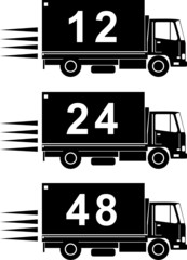 Truck with numbers