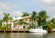 canvas print picture - Waterfront mansion