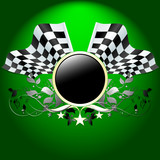 ornate banner with formula one flags poster