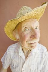 Senior Citizen Man in a Cowboy Hat