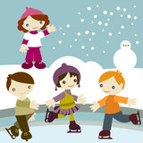 Fototapety kids_join_snow