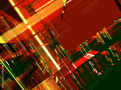 "Leinwanddruck Bild ""abstract color luminous future background"