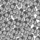 Grey hexagon tiles. Seamless vector pattern poster