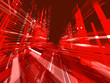 Leinwanddruck Bild abstract urban red luminous background