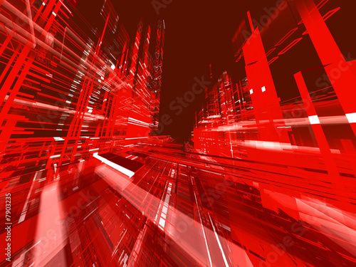 canvas print picture abstract urban red luminous background