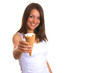 Woman with ice cream 6
