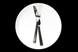 Knife and Fork on Plate poster