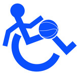 logo or symbol for wheelchair accessible sports or activities  poster