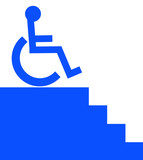handicap person unable to access the stairway poster