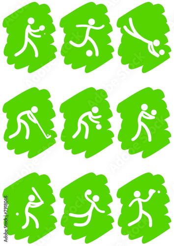 Pictogrammes des jeux olympiques d'été peinture verte(partie 3)