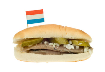 dutch herring sandwich