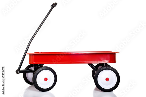 Leinwandbild Motiv Little Red Wagon