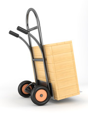 handcart and box