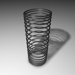 Molla verticale in acciaio
