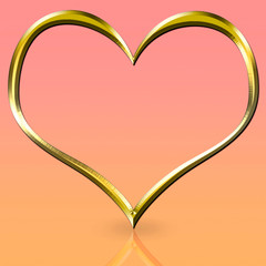 Golden Heart Frame