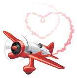 Fototapety Plane sending love message
