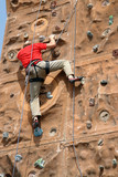 Climber in action poster