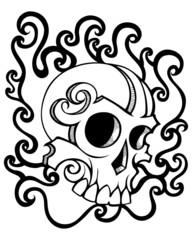 swirl skull tattoo image
