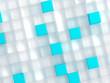 blue plastic cubes