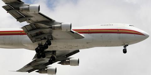 Jumbo jet in flight