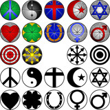12 miscellaneous symbols in full color and black and white poster