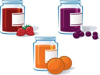 Set of Three Jam Jars