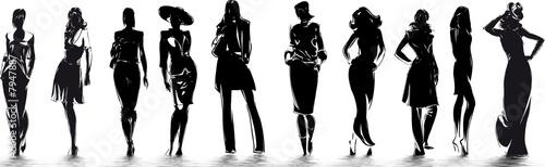 mode - silhouettes de femme - 7947887