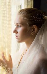 The girl near a window