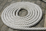 Coiled White Rope Detail 1 poster