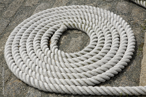 Coiled White Rope Detail 1