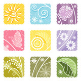 Fototapety Nine in One floral label, vector illustration layers file.