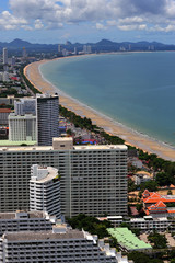 Thailand view of Jomtien and Pattaya bay