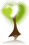 Symbol Environment. Tree Heart. poster