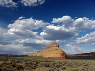 Einsamer Fels markiert Nationalpark