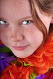 Freckle Faced Girl and Leis poster