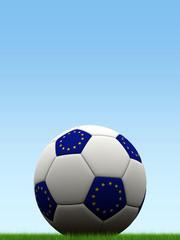 European flag Euro Football