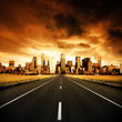 Leinwanddruck Bild Urban Highway