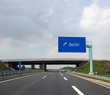 Autobahn & Berlin Autobahnschild - Highway and direction sign