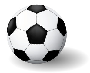 Soccer ball. Vector illustration. Isolated on white background.